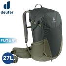 【Deuter 德國 FUTURA 27L 透氣網架背包《墨綠/卡其》】3400321/輕量登山包/自行車背包/健行包