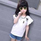 女童短袖t恤 寬鬆半袖純棉體恤上衣