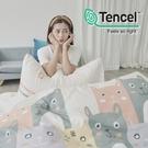[小日常寢居]#HT033#絲柔親膚奧地利TENCEL天絲3.5尺單人床包+枕套+單人舖棉兩用被三件組-台灣製
