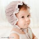 甜美寶寶蕾絲花邊燙金宮廷帽 遮陽帽