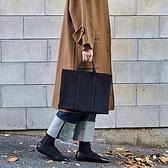 新款上課袋子手提包女小包帆布拉鏈大學生媽媽百搭女士大容量簡約 全館鉅惠