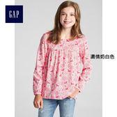 Gap女童 Gap x Sarah Jessica Parker系列 印花圓領上衣 374493-濃情奶白色