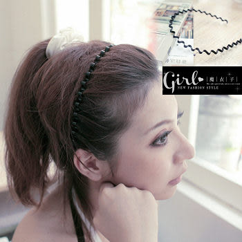 【QX262】魔衣子時尚感波浪細版髮箍髮圈