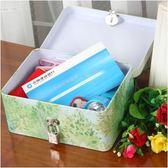 收納盒帶鎖鐵皮盒子有鎖儲物盒秘密證件零錢票據馬口鐵盒半島鐵盒 年終尾牙交換禮物