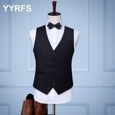 西裝馬甲YYRFS商務修身西裝三扣馬甲男 西服背心休閒職業馬夾韓版潮 可然精品