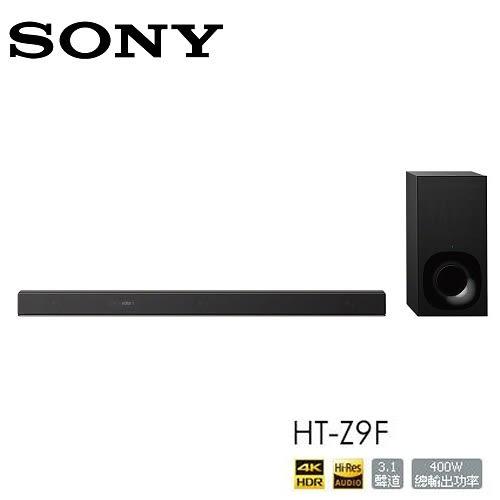 【再送好禮+限時下殺+24期0利率】SONY HT-Z9F SOUNDBAR 3.1聲道 單件式環繞音響 4K HDR DolbyVision (加購價)