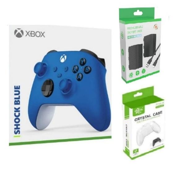 [哈GAME族]免運費 可刷卡 XBOX Series 無線控制器 手把 衝擊藍 + AOLION AL-XB2020 Xbox Series 手把電池組