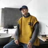 冬季韓版潮流假兩件加厚毛衣學生拼接高領針織衫外套男 3C優購