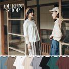 Queen Shop【01096474】簡約素面百搭圓領上衣 八色售*現+預*