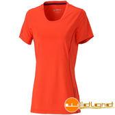 Wildland荒野 0A31619-13橘紅色 女彈性條紋速乾抗UV上衣