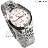 OMAX 時尚城市數字圓錶 不繡鋼錶帶 藍寶石水晶玻璃 男錶 OMAX4004M白玫