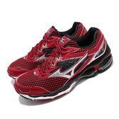 【五折特賣】Mizuno 慢跑鞋 Wave Creation 18 紅 銀 避震 跑步 男鞋 運動鞋【PUMP306】 J1GC1601-04