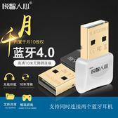 藍芽適配器 USB藍芽適配器4.0電腦音頻發射台式機手機滑鼠鍵盤耳機音響接收器 igo 玩趣3C