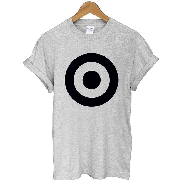 Target-Black Black.短袖T恤 2色 標靶黑色圓幾何圖案設計t-shirt gildan