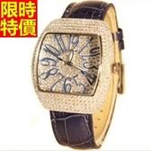 鑽錶-明星同款設計經典款女手錶5色5j25【巴黎精品】