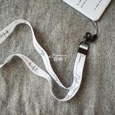 現貨出清簡約ins文藝黑白鑰匙掛繩 掛脖繩手機掛件 蘋果7個性掛飾 9-7