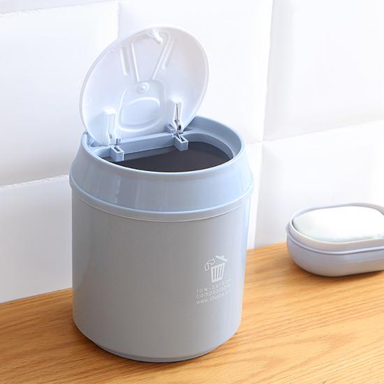 按壓式桌面垃圾桶  創意小 迷你 收納筒 浴室 衛生紙 分類 環保 整潔 乾淨【A036-1】慢思行