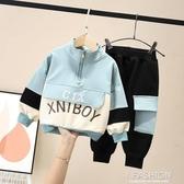 男童套裝2019新款秋裝帥寶寶潮裝洋氣3兒童秋款童裝4運動兩件套-ifashion