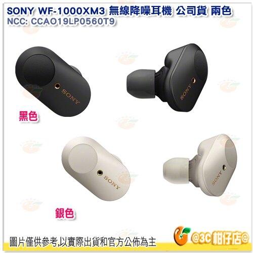附磁吸充電盒 SONY WF-1000XM3 無線降噪耳機 黑 銀 公司貨 藍牙 耳塞式 觸控通話  自動感應器