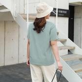 纖莉秀2020夏季新款大碼女裝時髦印花上衣胖mm氣質百搭短袖t恤衫
