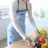 半島良品 烘焙做飯繫帶圍裙韓版時尚簡約廚房防水防油防污罩衣女限時大優惠!