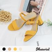跟鞋 橫帶粗跟涼鞋 MA女鞋 T5894