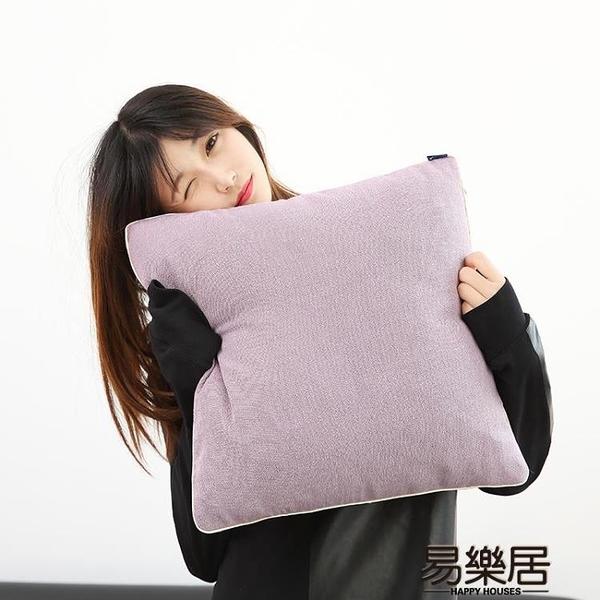 抱枕純色簡約細亞麻抱枕沙發靠墊