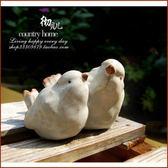 用品擺設裂紋母子陶瓷小鳥