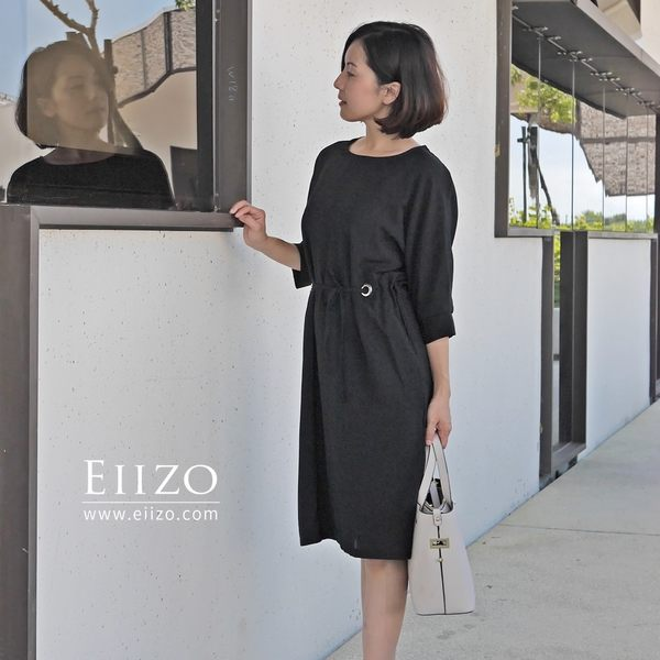 【EIIZO】涼感舒適都會風洋裝(黑)