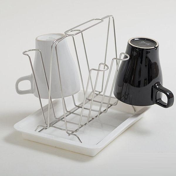 馬克杯 杯架 瀝水【D0006】日式簡約風不鏽鋼杯架 MIT台灣製 完美主義
