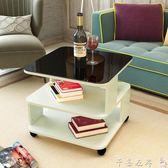 邊幾現代簡約沙髮邊幾客廳移動陽臺小茶幾迷你北歐茶幾玻璃床頭櫃 【7月爆款】LX