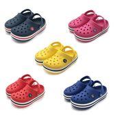 男童鞋 男童女童沙灘鞋涼鞋防滑軟底包頭小童拖鞋 綠光森林