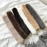 秋冬軟軟的毛毛手提帶包帶配件毛絨肩帶單肩帶 萬客城