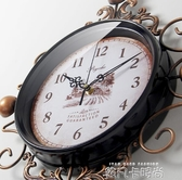 美式復古鐘錶掛鐘時鐘客廳創意潮流臥室現代簡約新款大氣客廳家用QM 依凡卡時尚
