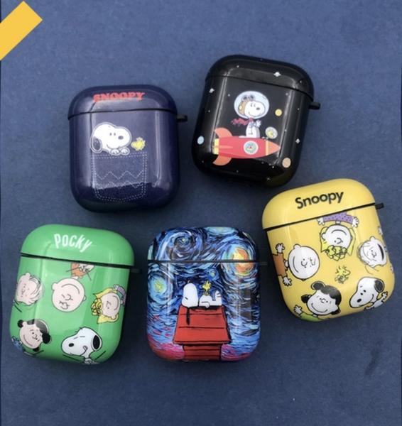Airpods Pro 專用 1/2代 台灣發貨 [ 全5款 史努比 ] 藍芽耳機保護套 蘋果無線耳機保護