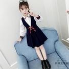 女童套裝兒童公主裙春秋大童兩件套裙【時尚大衣櫥】