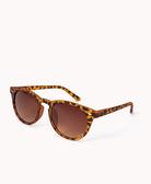 【BJ.GO】 FOREVER 21_F0339 Round Frame Sunglasses 豹紋霧面圓框太陽眼鏡 //新品現貨