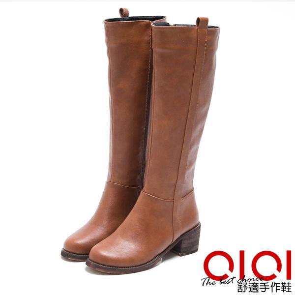 長靴 都會經典素面長筒靴(棕) *0101shoes【18-1776br】【現+預】