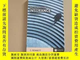二手書博民逛書店Dictionary罕見of Insurance 保險詞典(大3