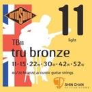 樂器購物 ► ROTOSOUND TB11銅合金民謠吉他弦(11-52) 【英國製/木吉他弦/TB-11】