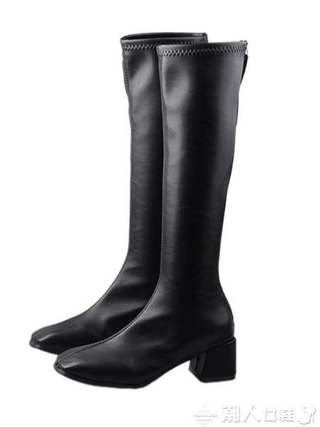 長筒靴長靴女不過膝2021新款春秋單款長筒秋季小個子瘦瘦靴騎士高筒靴子 非凡小鋪