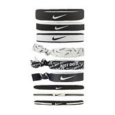 Nike 髮帶 Ponytail Holder 9-Pack 彩 白 男女款 頭帶 髮圈 運動休閒 【ACS】 N000353703-6OS