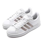 adidas 休閒鞋 Grand Court 白 灰 皮革鞋面 基本款 女鞋 運動鞋 小白鞋【ACS】 F36485