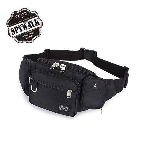 腰包 SPYWALK多插袋隱藏水壺袋尼龍兩用側掛包腰包 NO:2907