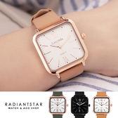 正韓LAVENDA方形大錶面真皮手錶對錶單支閨蜜禮情人禮【WLA344】璀璨之星☆
