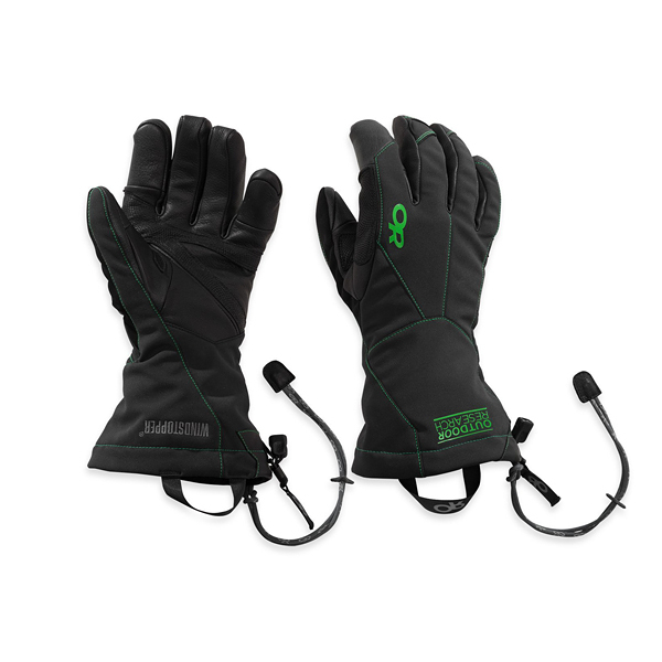 [OUTDOOR RESEARCH] (男) Luminary Sensor Gloves 保暖手套 黑/綠 (OR72711-67C)