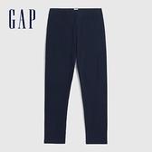 Gap女童 簡約風格素色鬆緊內搭褲 802491-藏青色