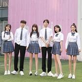 韓版學生裝學院風班服套裝初高中學生校服校園風演出服紺金格子裙 SUPER SALE 快速出貨
