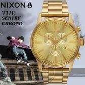 NIXON 實體店THE SENTRY CHRONO潮流時尚腕錶A386-502公司貨/極限運動/名人配戴/情人節