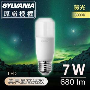 喜萬年SYLVANIA 7W LED小小冰極亮燈泡3000K黃光-4入